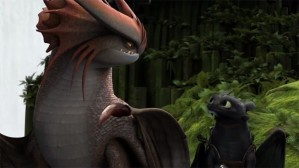 Parallel: A major plot point involving Hiccup reflected in this image.